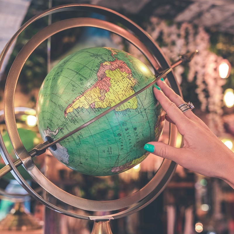 Cross Culture Globe Hand